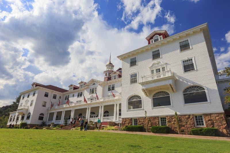 Stanley Hotel histórico en Estes Park imagen de archivo