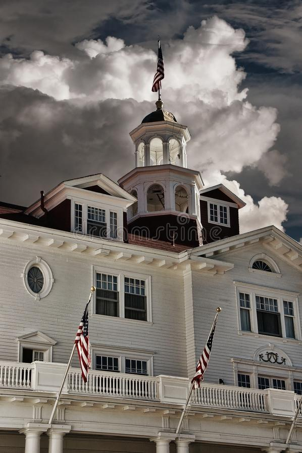 Stanley Hotel, ubicación para el brillo fotografía de archivo libre de regalías