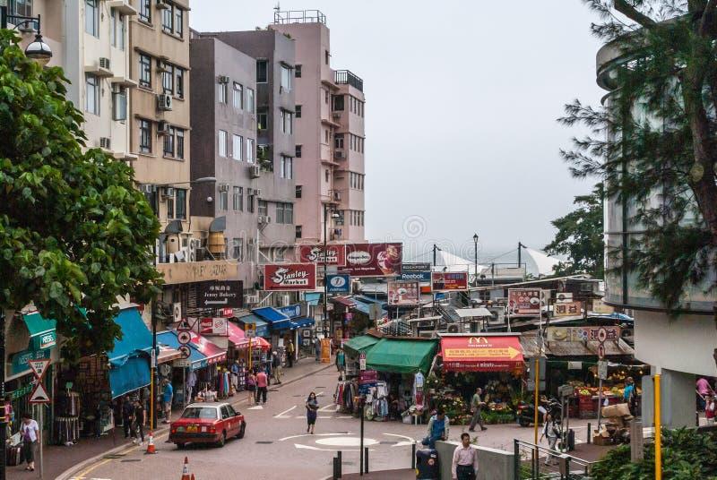 Stanley Market y vecindad en Hong Kong Island China fotografía de archivo
