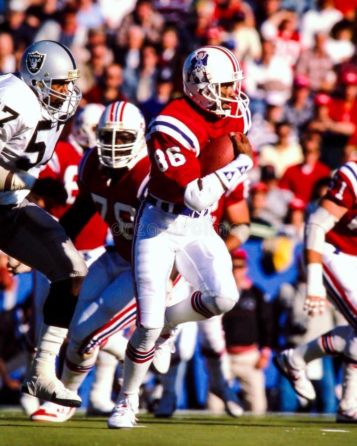 Stanley Morgan New England Patriots royalty-vrije stock foto's