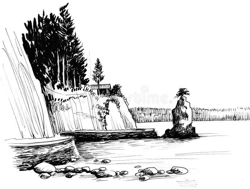 Stanley Park stock illustrationer