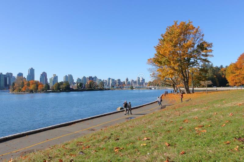 Stanley Park et Vancouver image stock