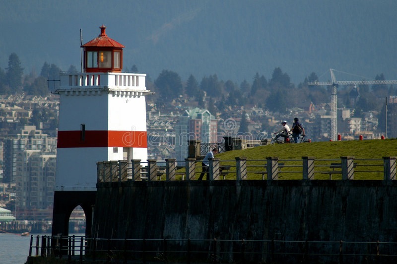 Stanley Park Lighthouse - Vancouver BC royalty-vrije stock afbeelding