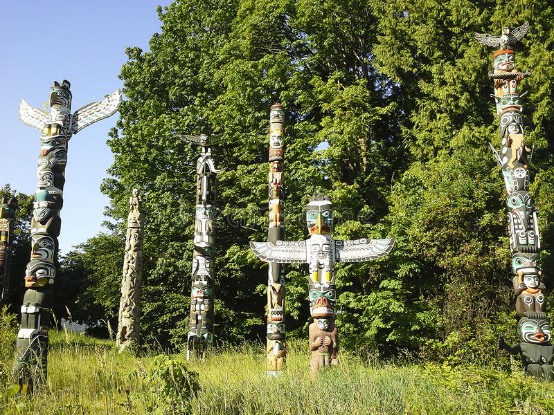 Stanley Park Totem Vancouver immagini stock libere da diritti