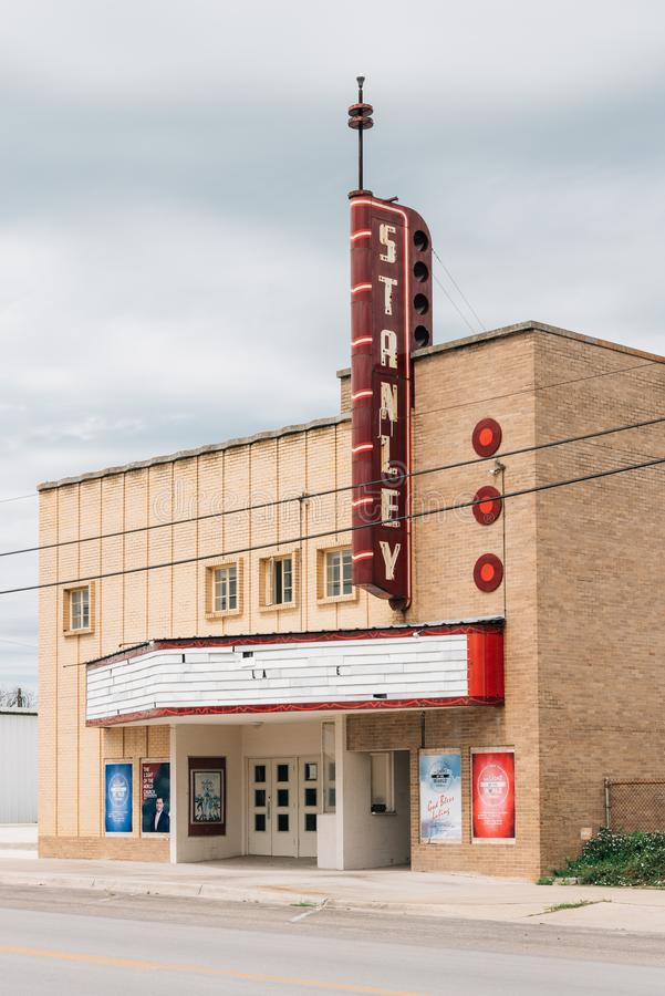 Stanley Theater, dans Luling, le Texas photographie stock