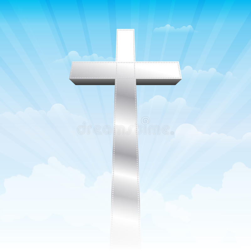 stanowcza wiara ilustracja wektor