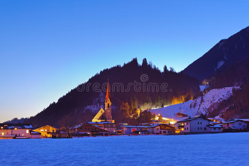 Stans Austria. Architecture and nature background royalty free stock photo