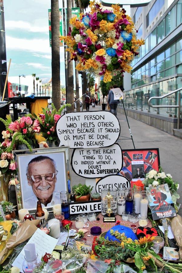Stans Lees minnesmärke på stjärnan royaltyfri foto