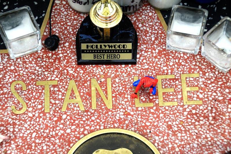 Stans Lees minnesmärke på stjärnan royaltyfri fotografi