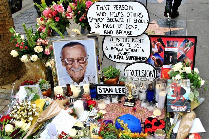 Stans Lees minnesmärke på stjärnan arkivbild