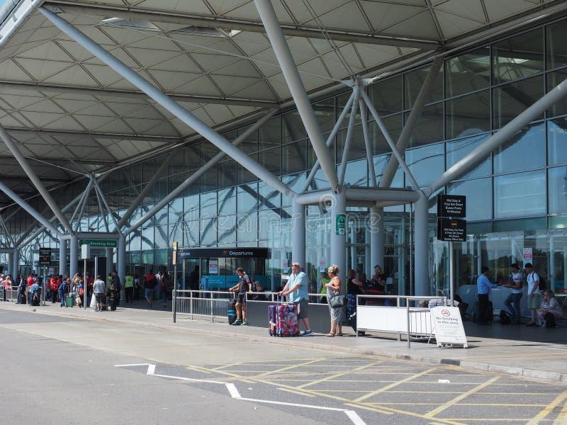 Stansted lotnisko w Londyn, UK obraz royalty free