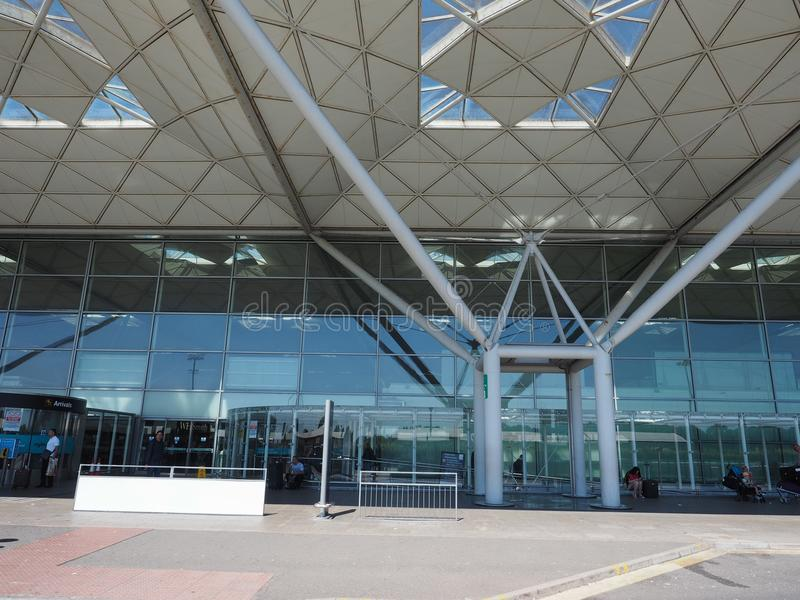 Stansted lotnisko w Londyn, UK zdjęcie stock