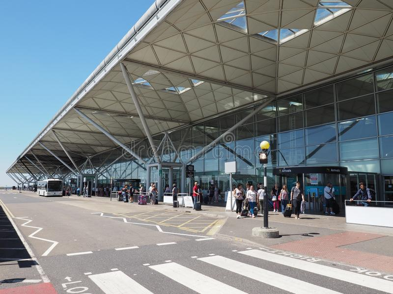 Stansted lotnisko w Londyn, UK zdjęcia royalty free