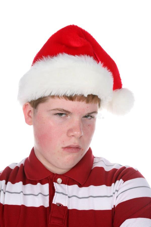 stanta grognon de chapeau de garçon d'adolescent photos libres de droits