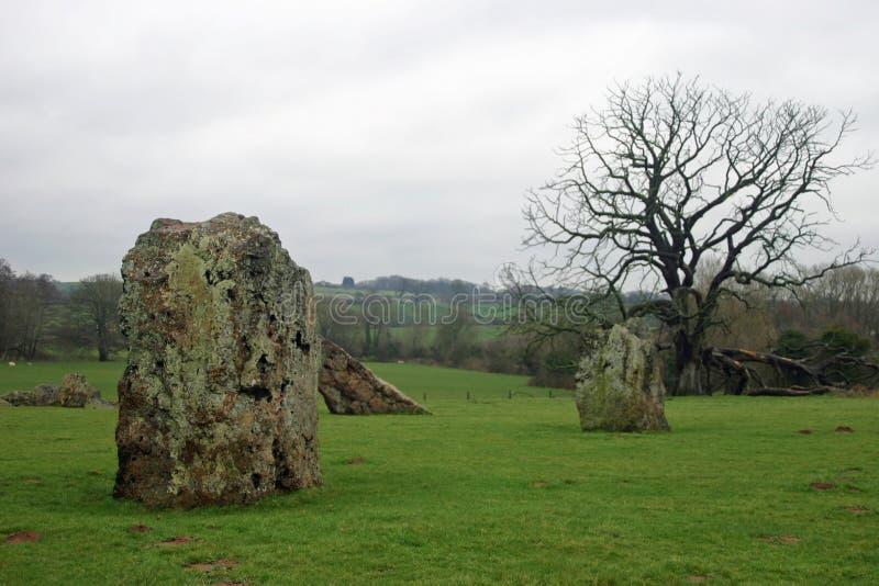 Stanton нарисовало каменный круг стоковое изображение