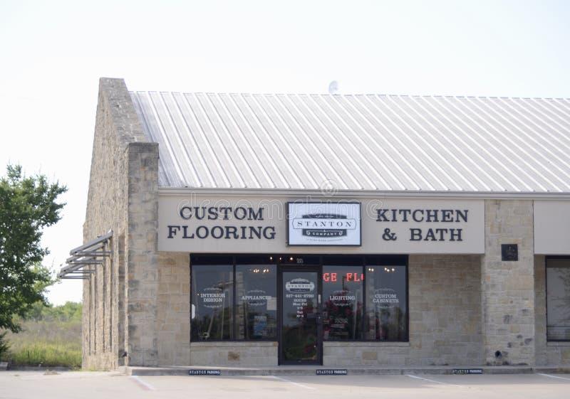 Stanton Custom Flooring, kök och bad, Fort Worth, Texas royaltyfri foto
