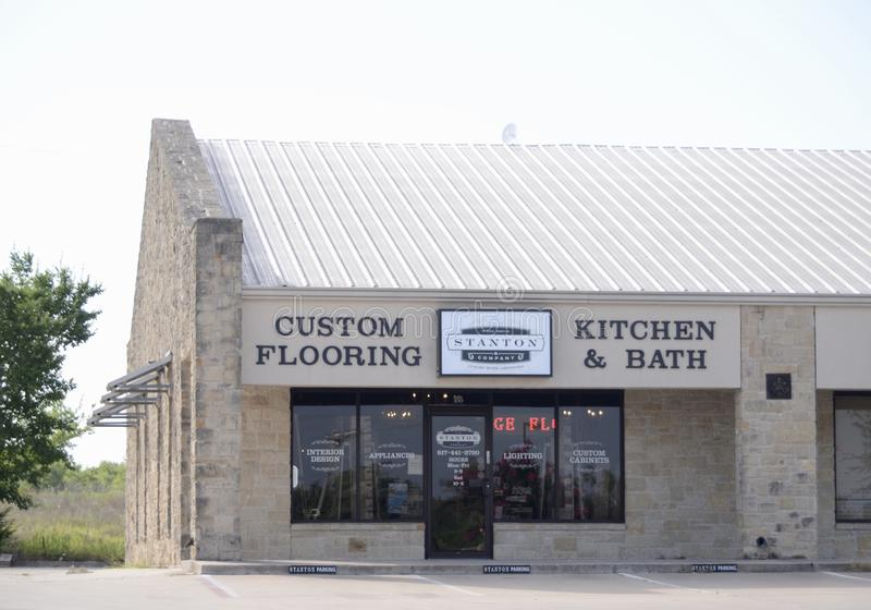 Stanton Custom Flooring, Kitchen and Bath, Fort Worth, Texas. Stanton Custom Flooring, Kitchen and Bath in Fort Worth Texas sells all types of Linoleum and royalty free stock photo
