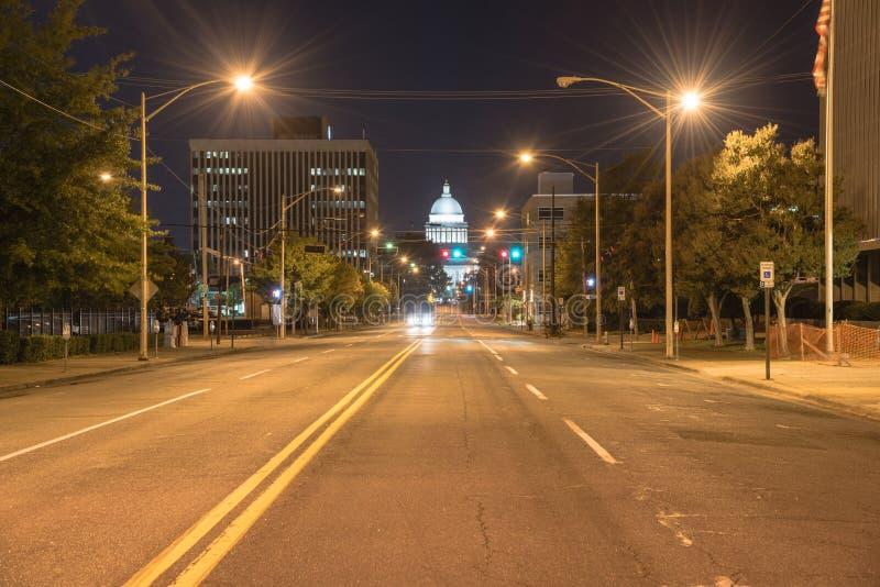 Stanu Capitol Arkansas nigh przegląda obraz stock
