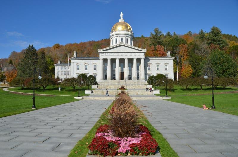 Stanu Capitol budynek w Montpelier Vermont fotografia royalty free