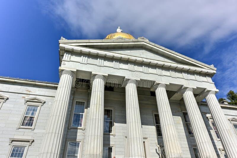 Stanu Capitol budynek w Montpelier Vermont, usa zdjęcia royalty free