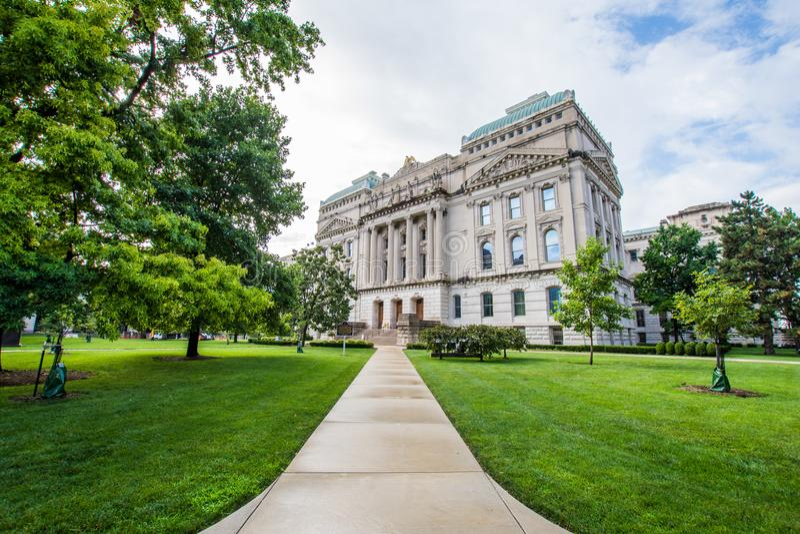 Stanu domu wycieczki turysycznej biuro w Indianapolis Indiana Podczas lata zdjęcie royalty free