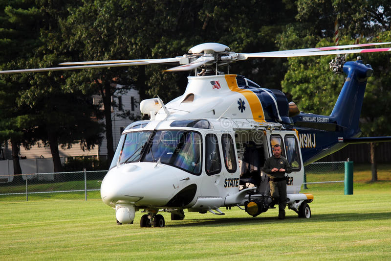 Stanu helikopter policyjny obraz stock