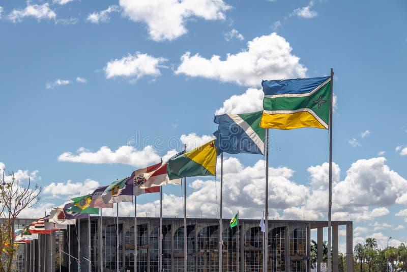 Stanu pas ruchu, Distrito Federacyjny, Brazylia - Alameda dos Estados, Brasilia - zdjęcie royalty free