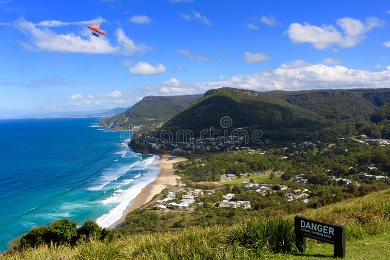 Stanwell complète Hanggliding photo stock