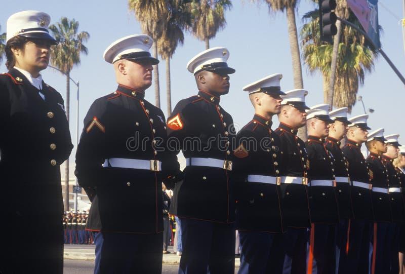 Stany Zjednoczone żołnierze piechoty morskiej, Los Angeles, Kalifornia obrazy stock