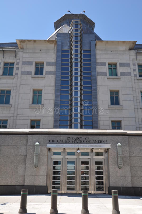 Stany Zjednoczone ambasada w Ottawa zdjęcia royalty free