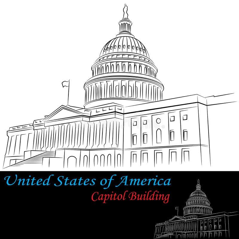 Stany Zjednoczone Ameryka Capitol Budynek royalty ilustracja