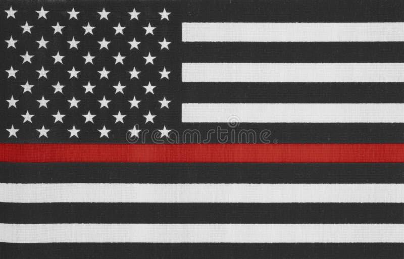 Stany Zjednoczone Ameryka czerwonej linii cienka flaga zdjęcie royalty free