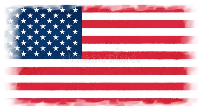Stany Zjednoczone Ameryka flaga obraz stock