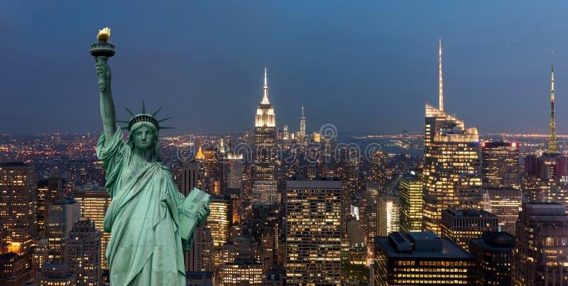 Stany Zjednoczone Ameryka pojęcie z statuy wolności pojęciem obrazy stock