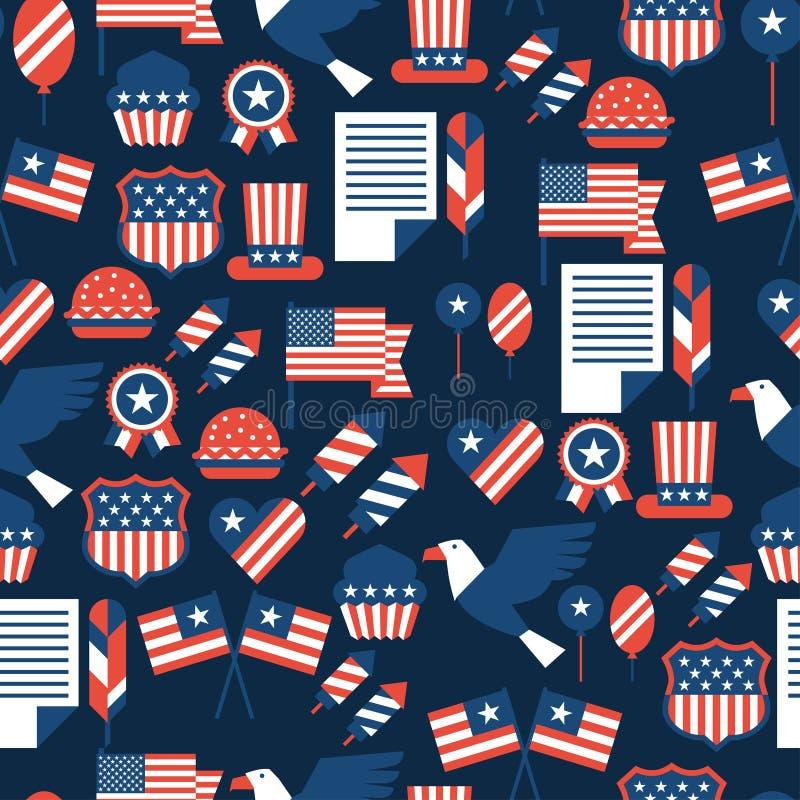 Stany Zjednoczone bezszwowy Ameryka dzień niepodległości royalty ilustracja