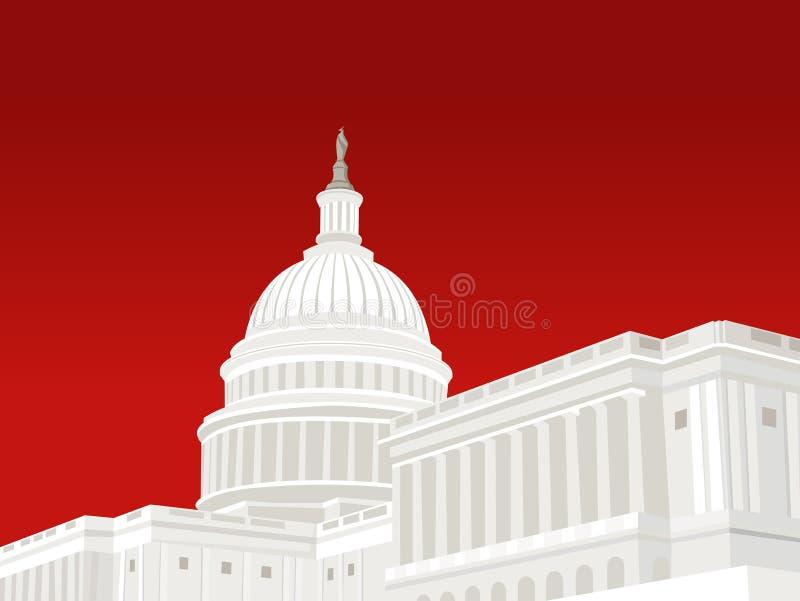 Stany Zjednoczone Capitol budynek ilustracja wektor