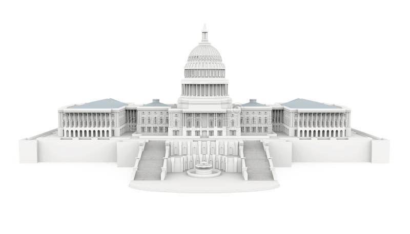 Stany Zjednoczone Capitol budynek Odizolowywający ilustracji