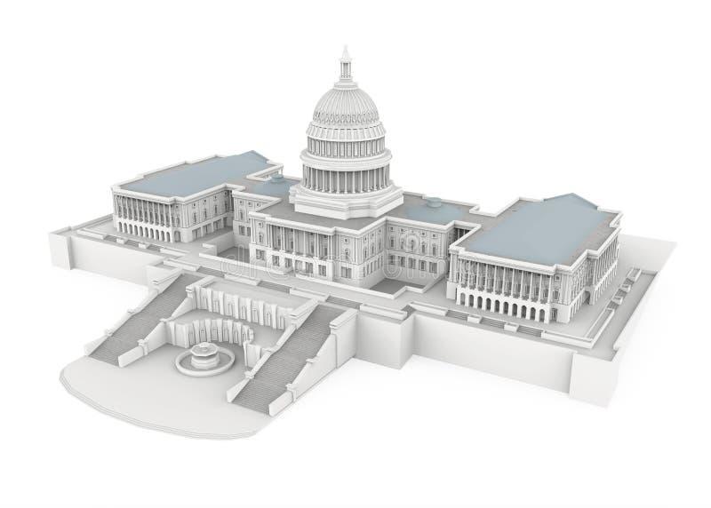 Stany Zjednoczone Capitol budynek Odizolowywający royalty ilustracja