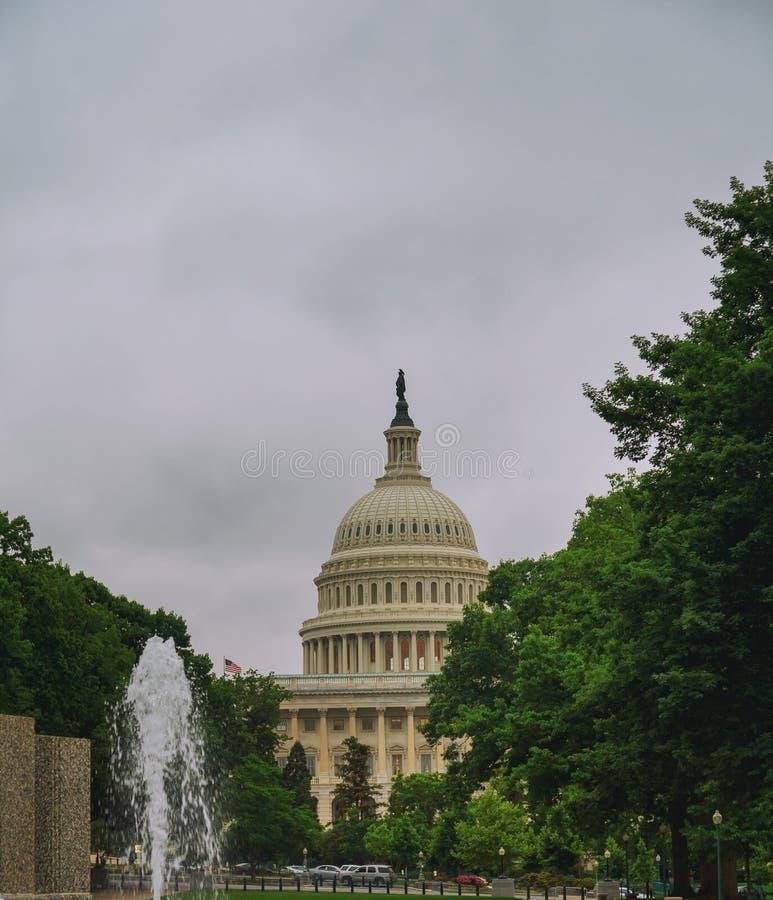 Stany Zjednoczone Capitol budynek przed zmierzchem, washington dc, usa zdjęcie stock
