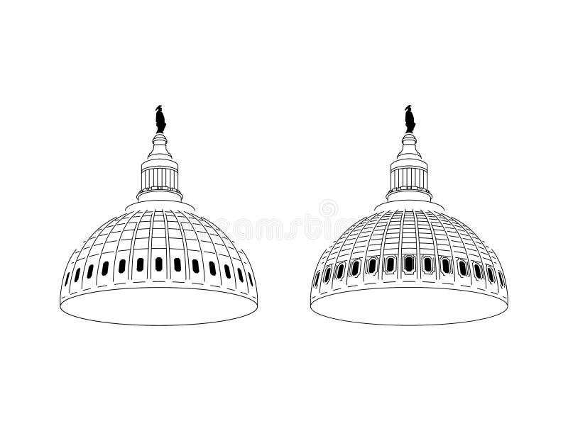 Stany Zjednoczone Capitol kopuły wektor royalty ilustracja