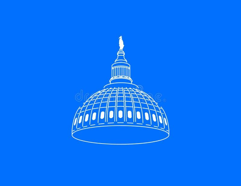 Stany Zjednoczone Capitol kopuły wektor ilustracja wektor