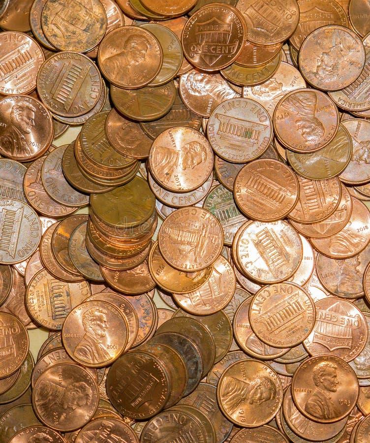 Stany Zjednoczone centu monety obrazy stock
