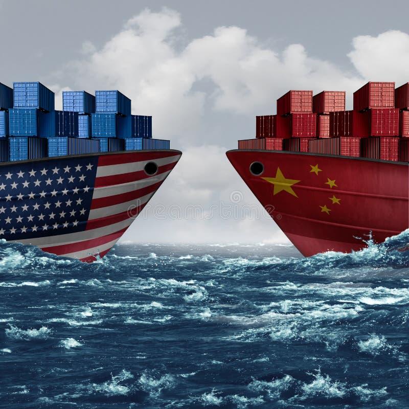 Stany Zjednoczone Chiny handel ilustracji