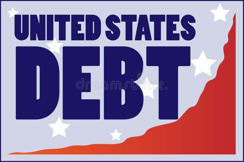 Stany Zjednoczone dług ilustracja wektor