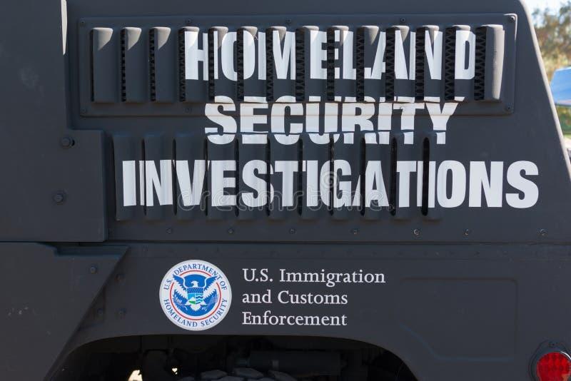 Stany Zjednoczone dział departamentu bezpieczeństwa krajowego logo obraz royalty free