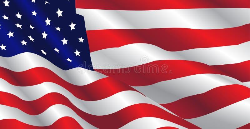 Stany Zjednoczone flaga ilustracja wektor