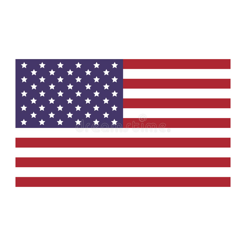 Stany Zjednoczone flaga ikony mieszkanie ilustracji