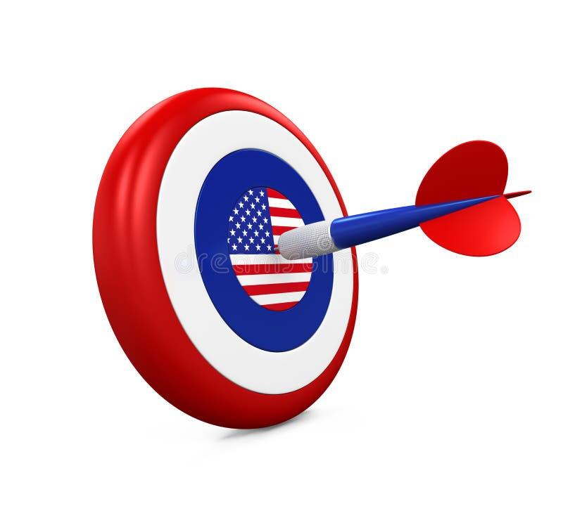 Stany Zjednoczone flaga w strzałkach ilustracji