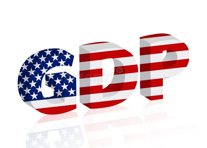 Stany Zjednoczone GDP brutto produkt krajowy royalty ilustracja