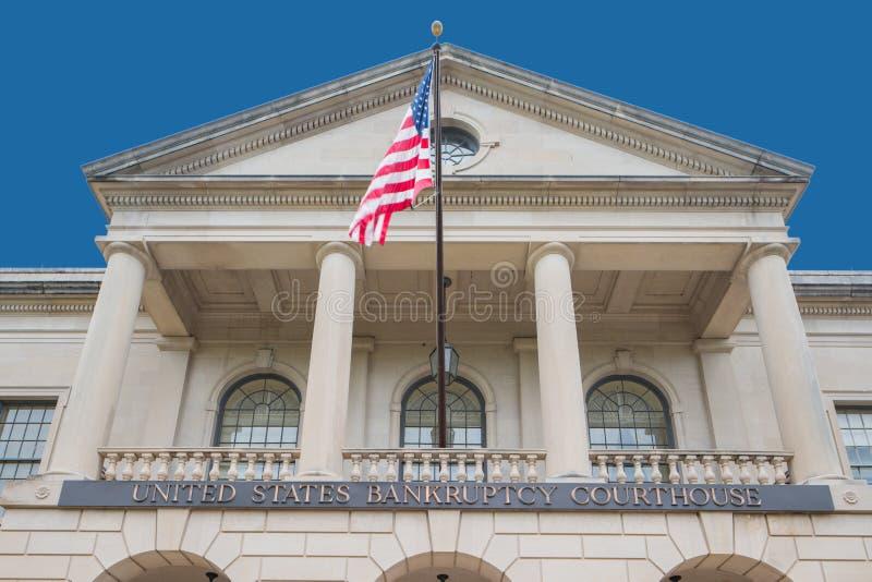 Stany Zjednoczone gmach sądu Tallahassee FL Upadłościowy wizerunek fotografia stock